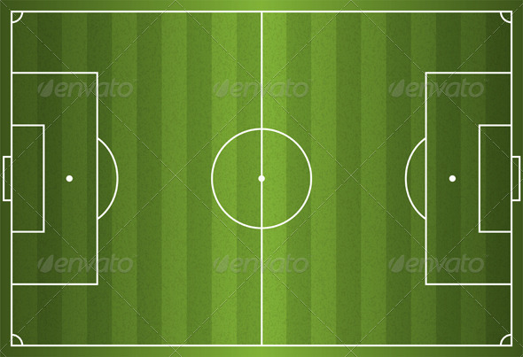 GraphicRiver Realistic Vector Football Soccer Field 6070608