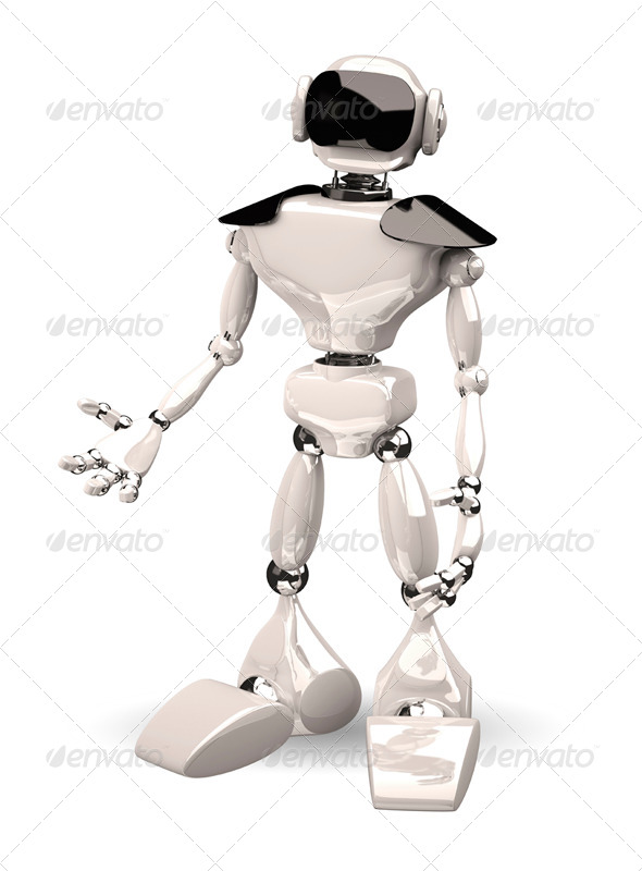 GraphicRiver robot on white background 6070698