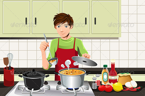 GraphicRiver Man Cooking 6070704