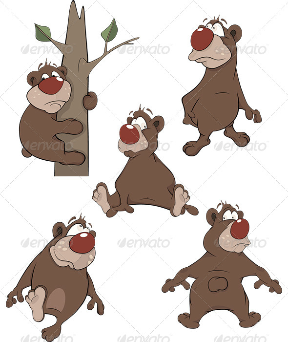 GraphicRiver Bears Clip Art Cartoon 6070705