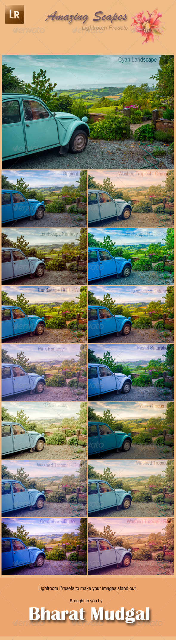 GraphicRiver Amazing Scapes 14 Lightroom Presets 6058858