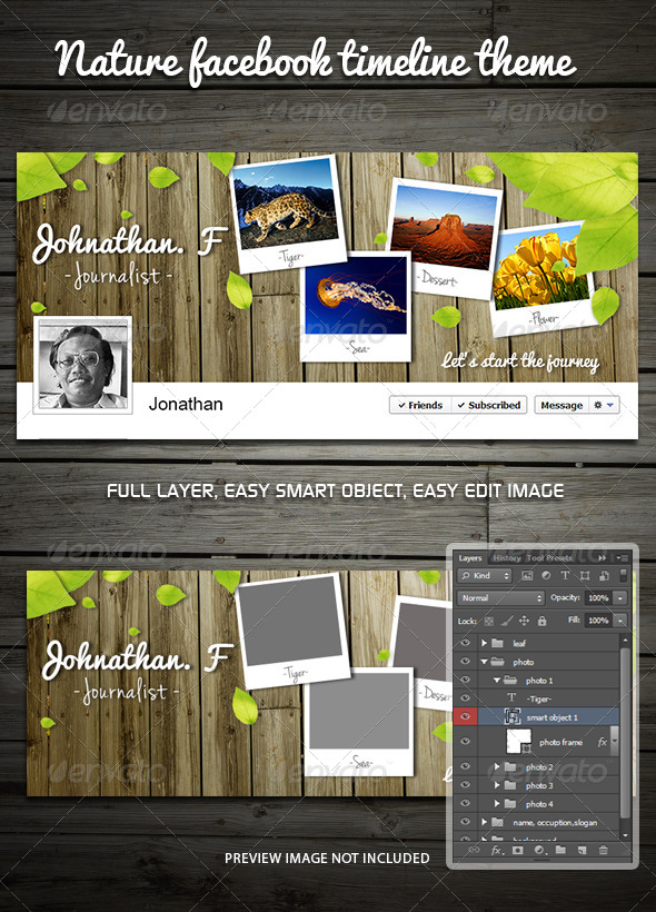 GraphicRiver Nature Facebook Timeline Theme 6070772