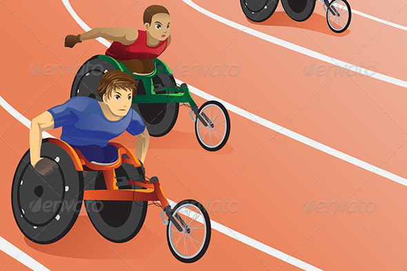 GraphicRiver Wheelchair Race 6070802