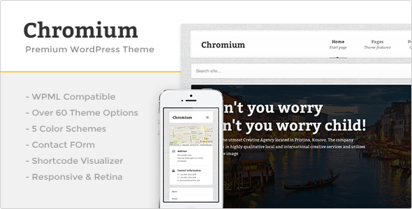 ThemeForest Chromium Responsive Business and Blog Theme 6070807