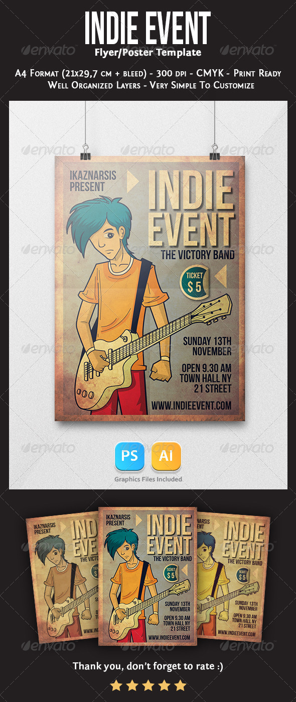 Indie Event Flyer Template - Concerts Events