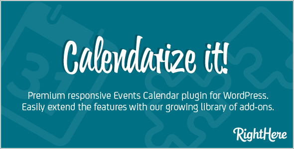 Calendarize it! - Responsive WordPress Calender Plugin