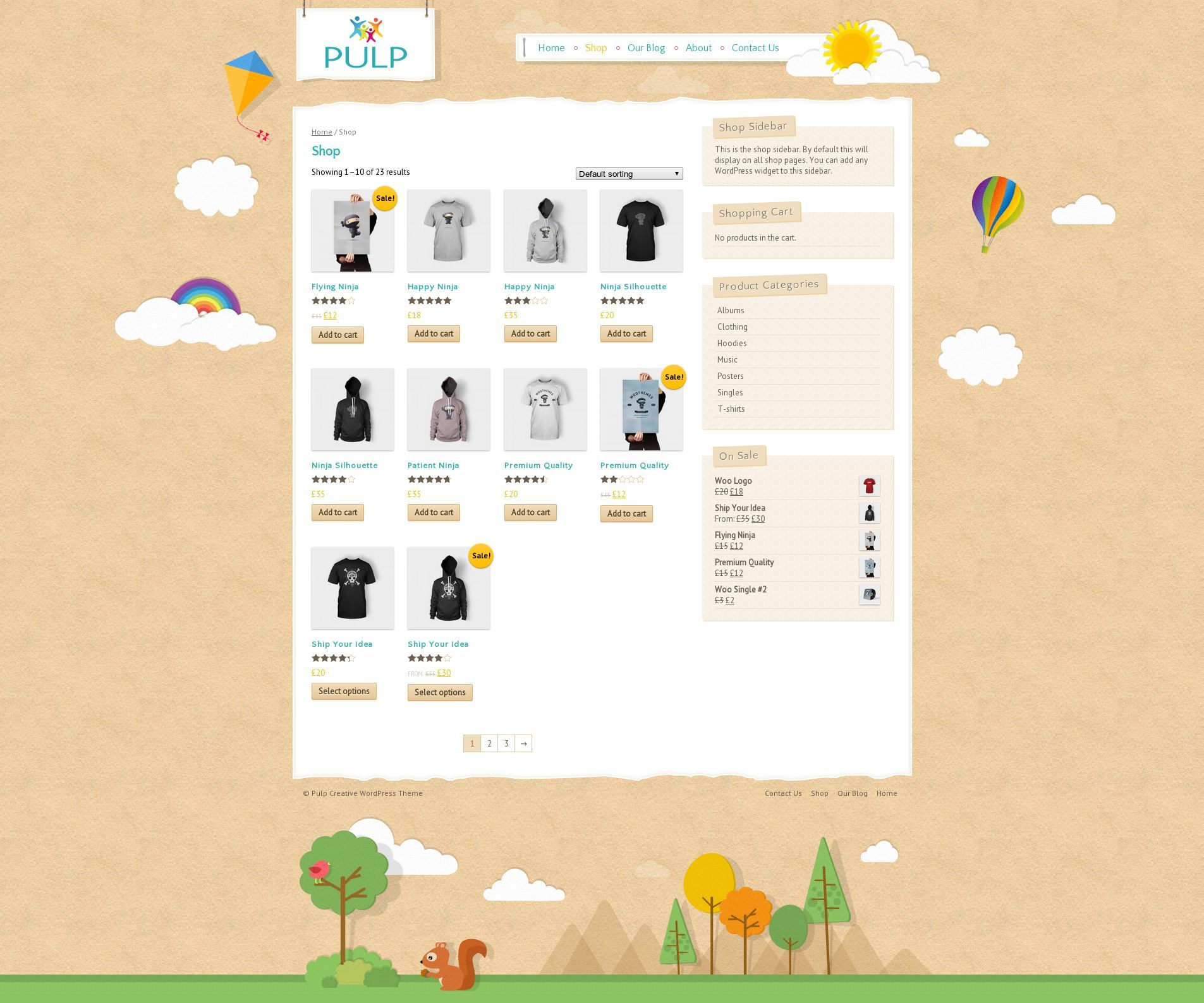 Pulp - Responsive Creative Blog & Shop - Creative WooCommerce shopping cart integration available.