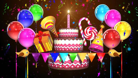 Kid S Birthday Decorations Loop By Johan Syah Videohive
