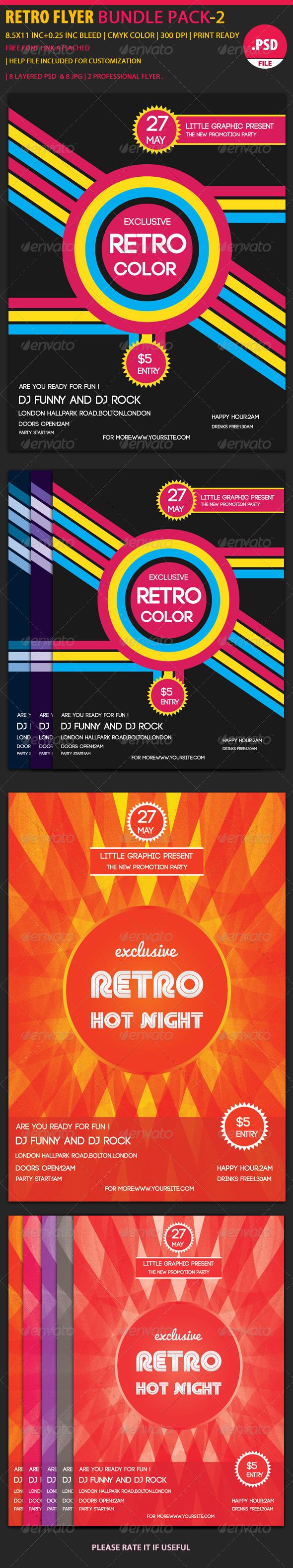 GraphicRiver Retro Party Flyer Bundle 2 6071188