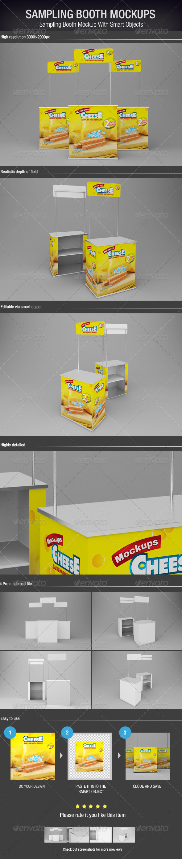 GraphicRiver Sampling Booth Mockups 6071281