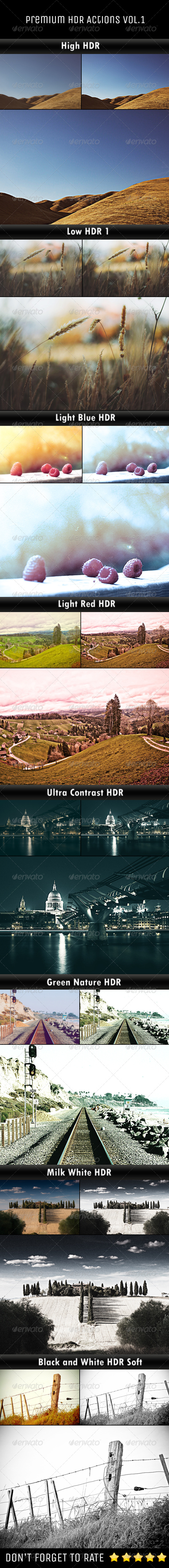 GraphicRiver Premium HDR Actions Vol.1 6071477