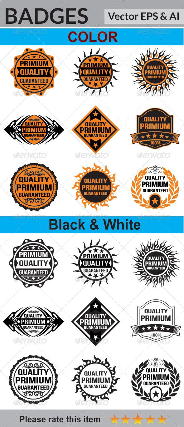 GraphicRiver 9 Quality Badges-2 6071489