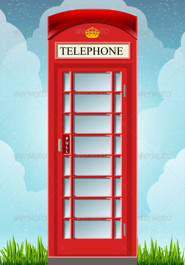 GraphicRiver English Red Telephone Cabin 6071710