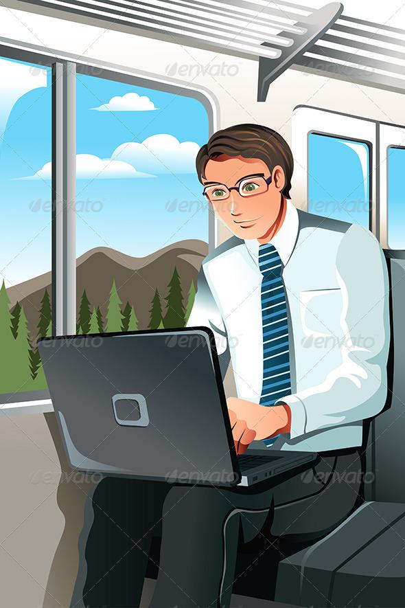 GraphicRiver Working Businessman 6071767