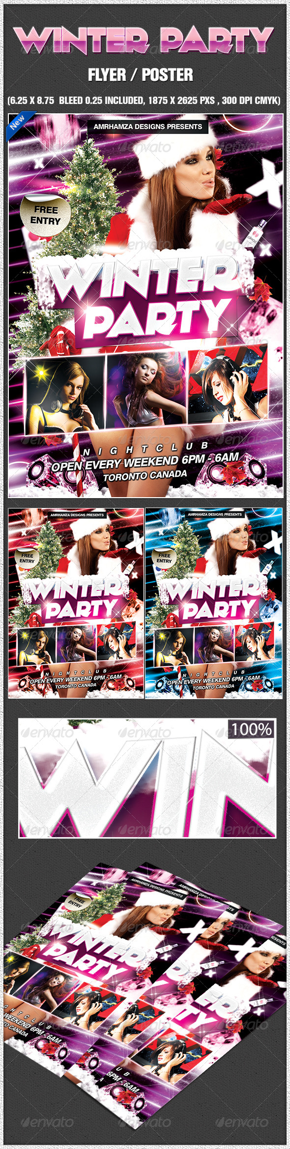 Sexy Winter Party Poster