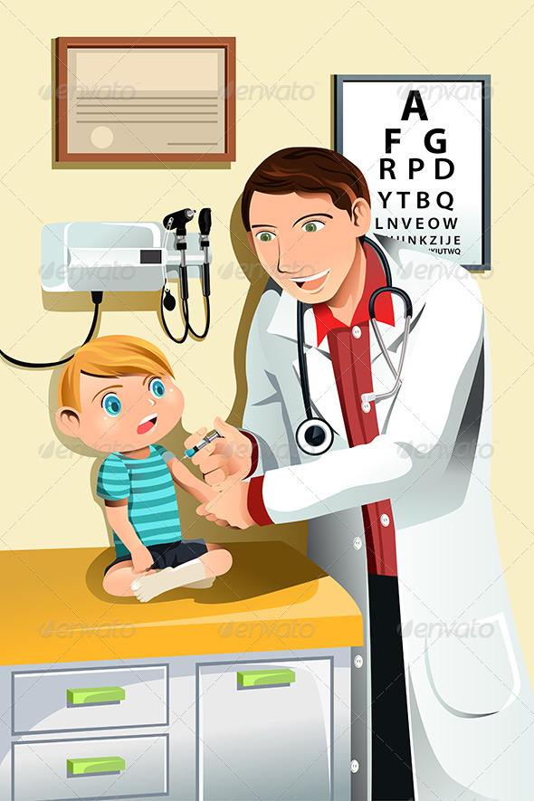 GraphicRiver Pediatrician with Child 6071968