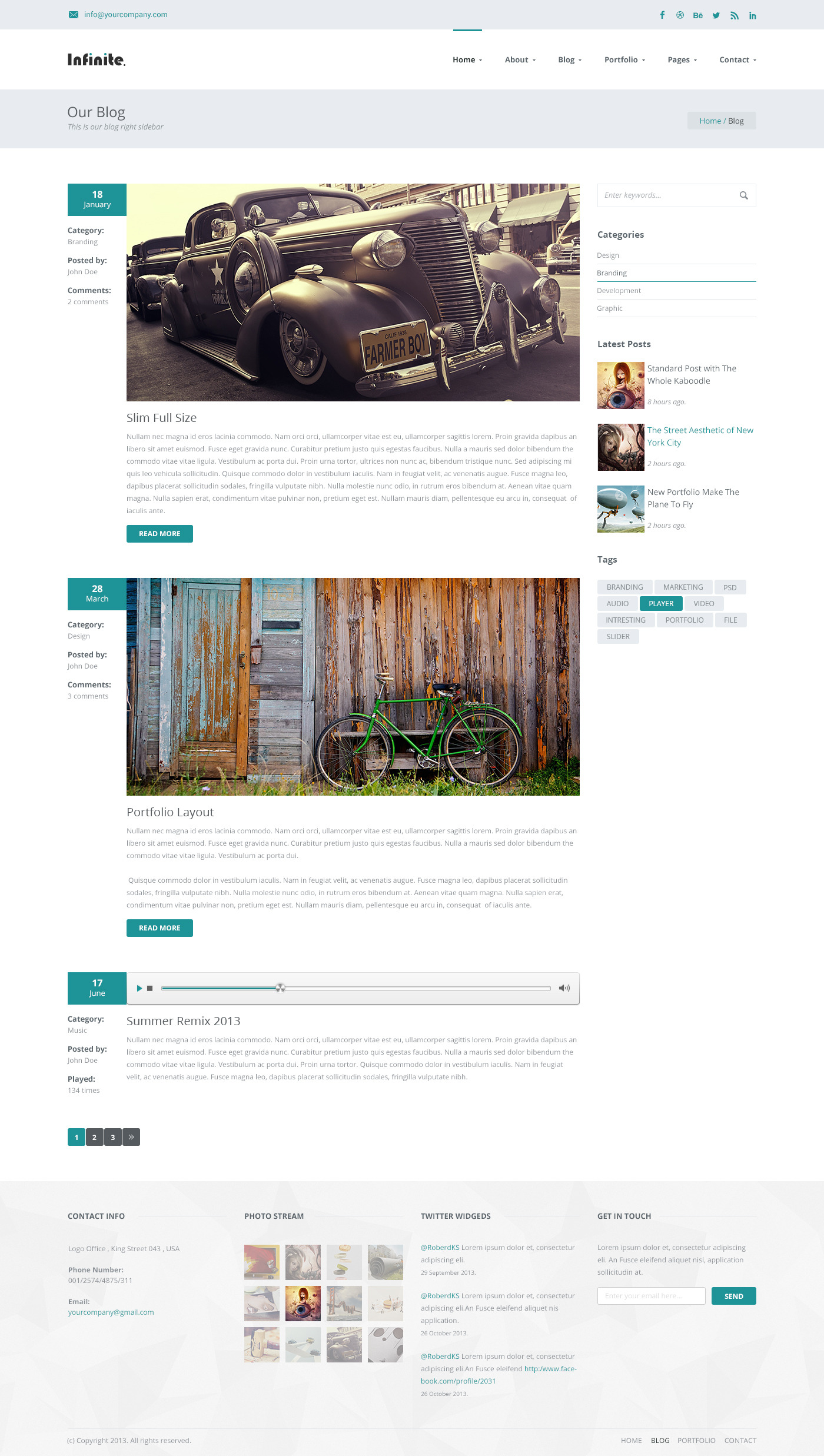 Infinite - Responsive HTML5 Multi-Purpose Template