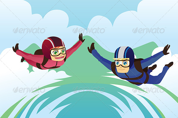GraphicRiver Skydiving 6072126