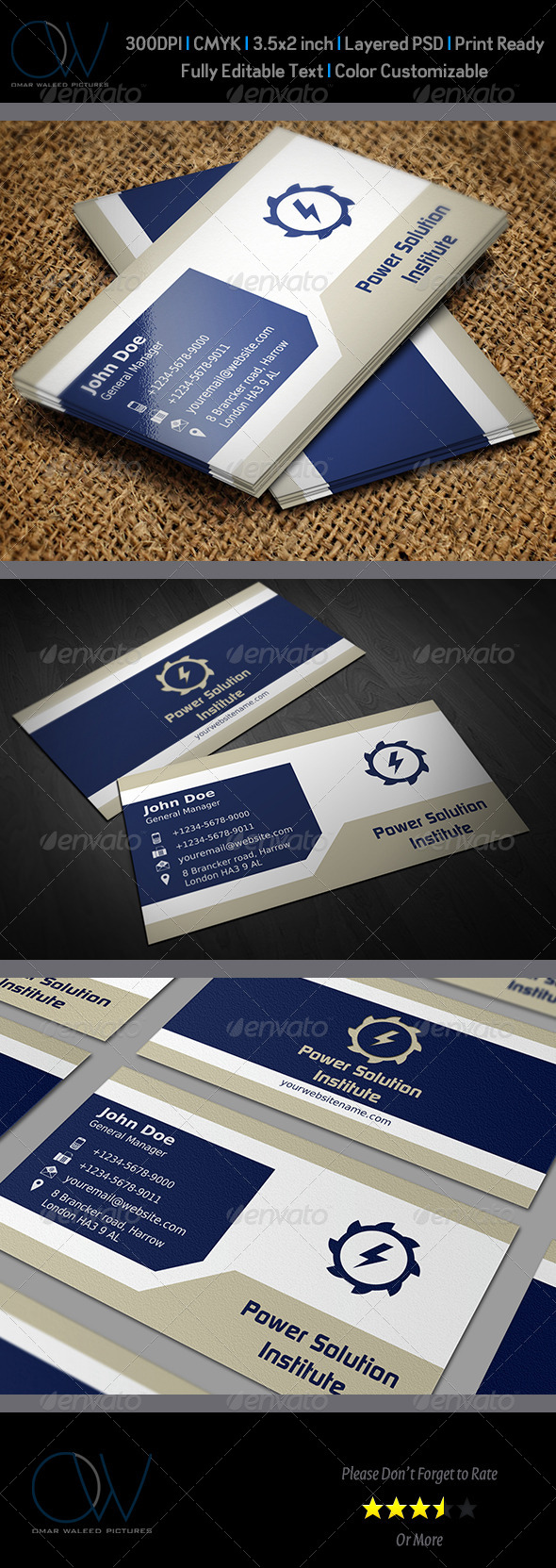 Corporate Business Card Template Vol.39 - Corporate Business Cards