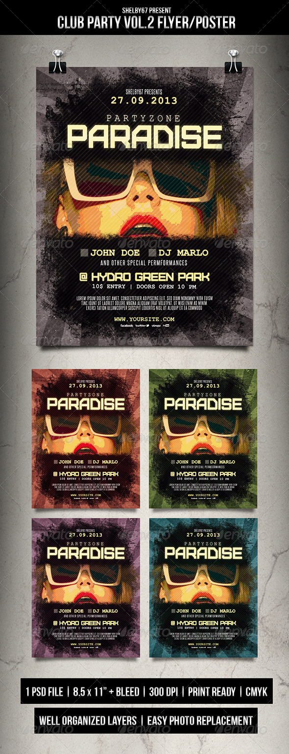 GraphicRiver Club Party Flyer Poster Vol.2 6072303