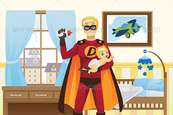GraphicRiver Father and Baby Boy 6072434