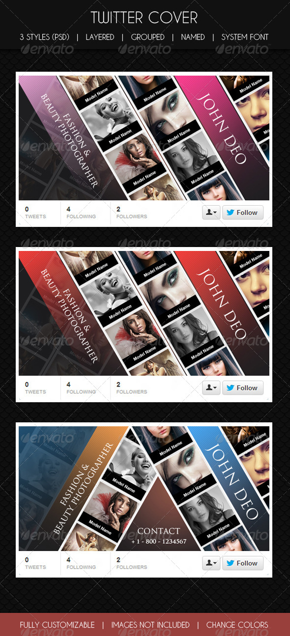 GraphicRiver Twitter Cover Glamour & Fashion 6072873