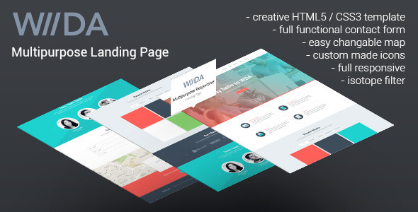View live Demo for WDA - Creative Portfolio Responsive Landing Page Template