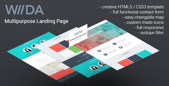 View live Demo for WDA - Creative Portfolio Responsive Landing Page Template