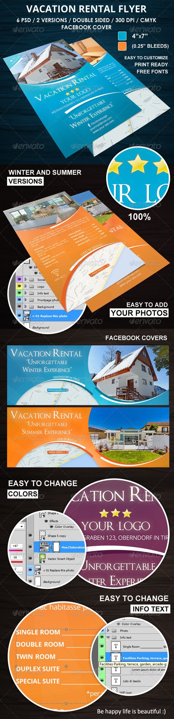 GraphicRiver Vacation Rental Flyer 6073049