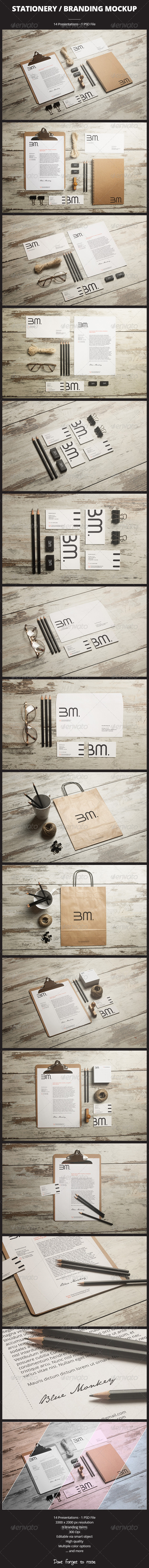 GraphicRiver Stationery Branding Mockup 6073133