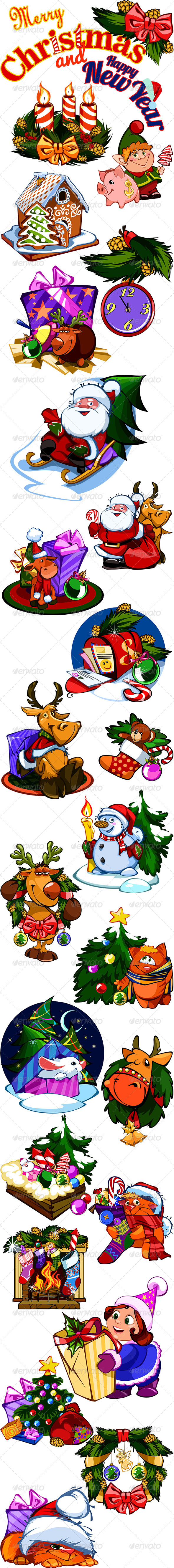 GraphicRiver Christmas Illustrations 6073150