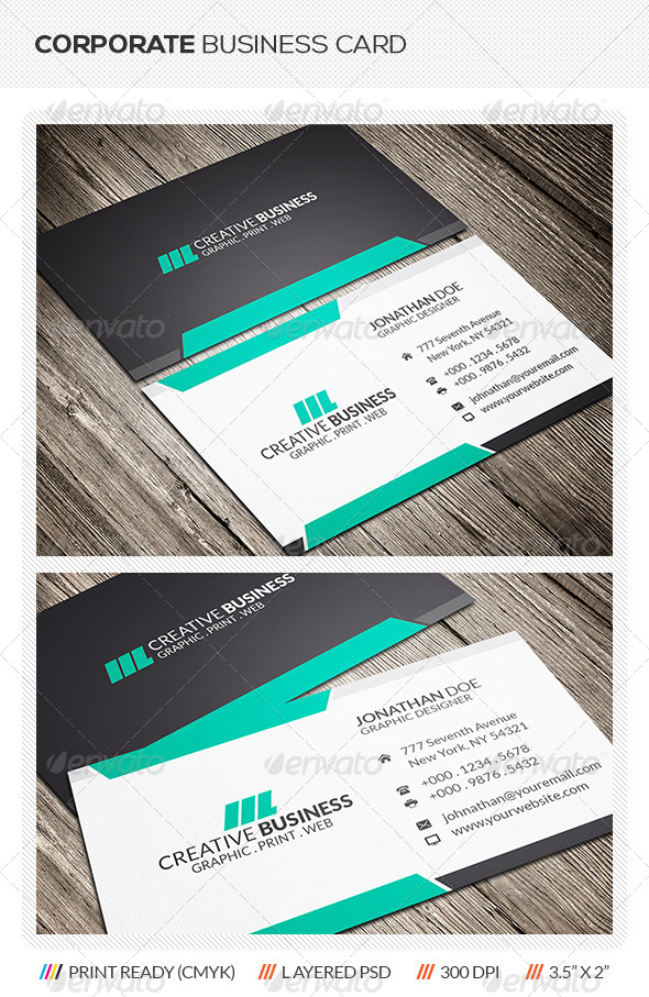 GraphicRiver Corporate Business Card 6073158