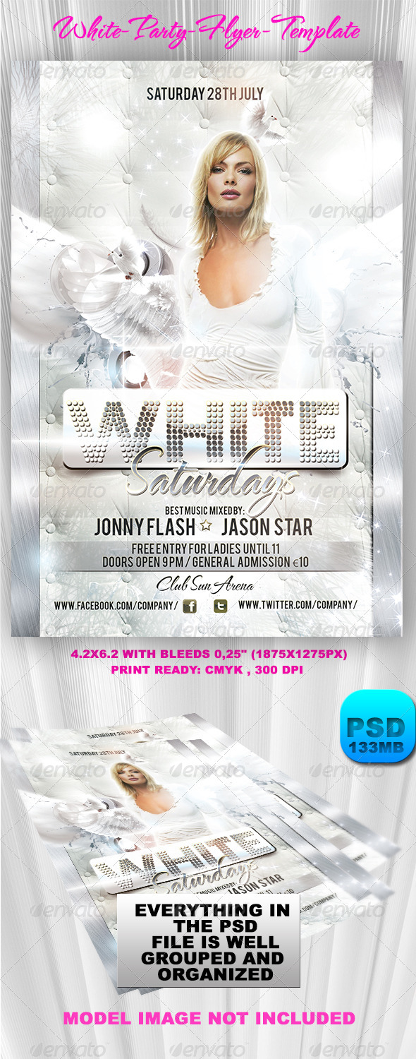 GraphicRiver White Party Flyer Template 6073295