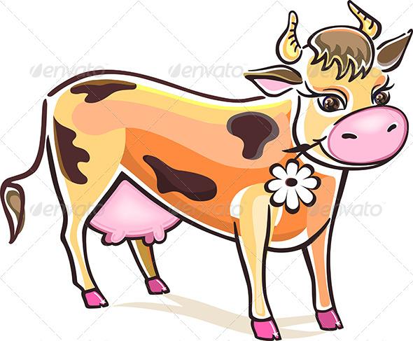 GraphicRiver Vector Cow 6073686