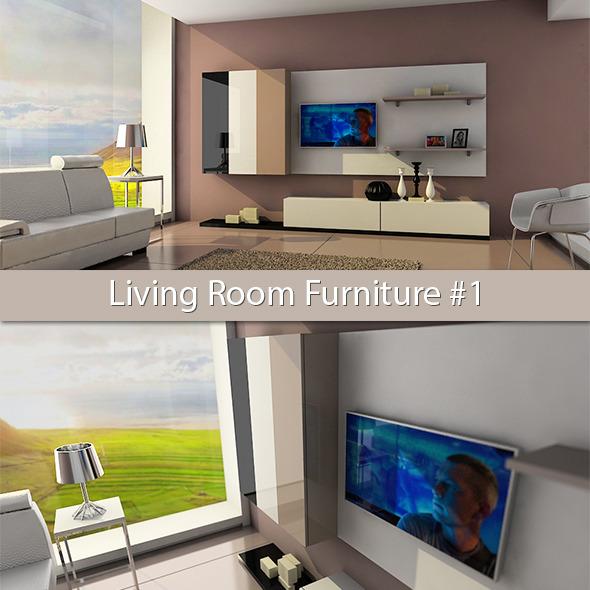 Living Room Furniture #1 - 3DOcean Item for Sale