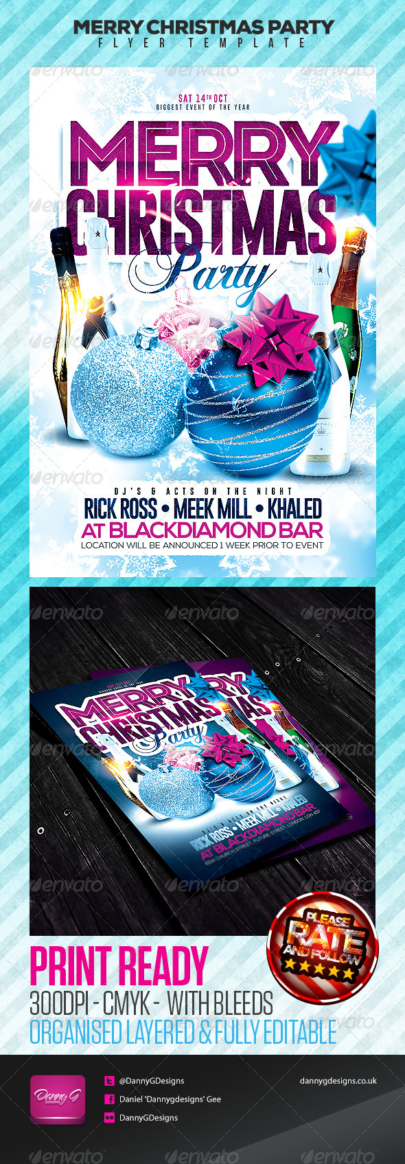 GraphicRiver Merry Christmas Party Flyer Template 6046762