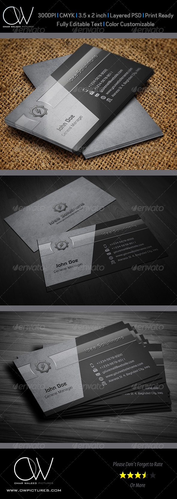 GraphicRiver Corporate Business Card Template Vol.41 6073825