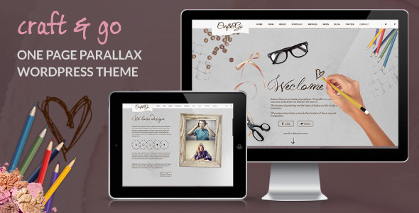 Craft&Go - Parallax OnePage Modern WordPress Theme - Creative WordPress