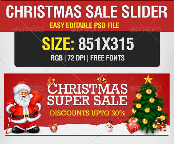 GraphicRiver Christmas Sale Slider 6074431
