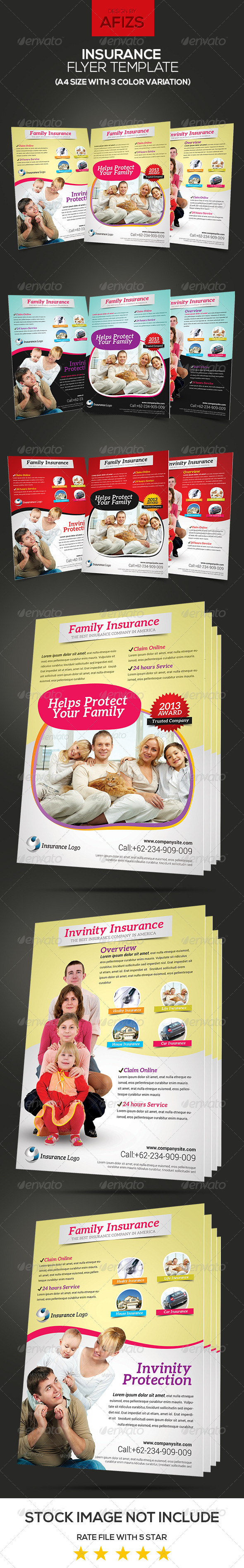 GraphicRiver Insurance Flyer Template 6074597