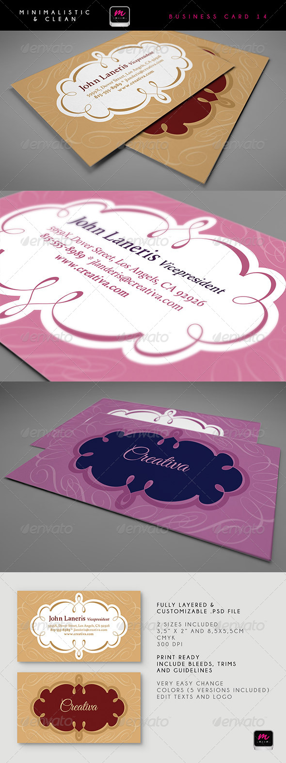 GraphicRiver Clean Business Card Template 14 6074734