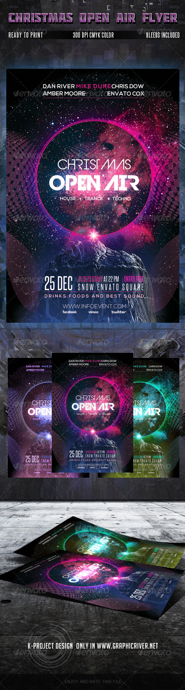 GraphicRiver Christmas Open Air Party Flyer 6046325