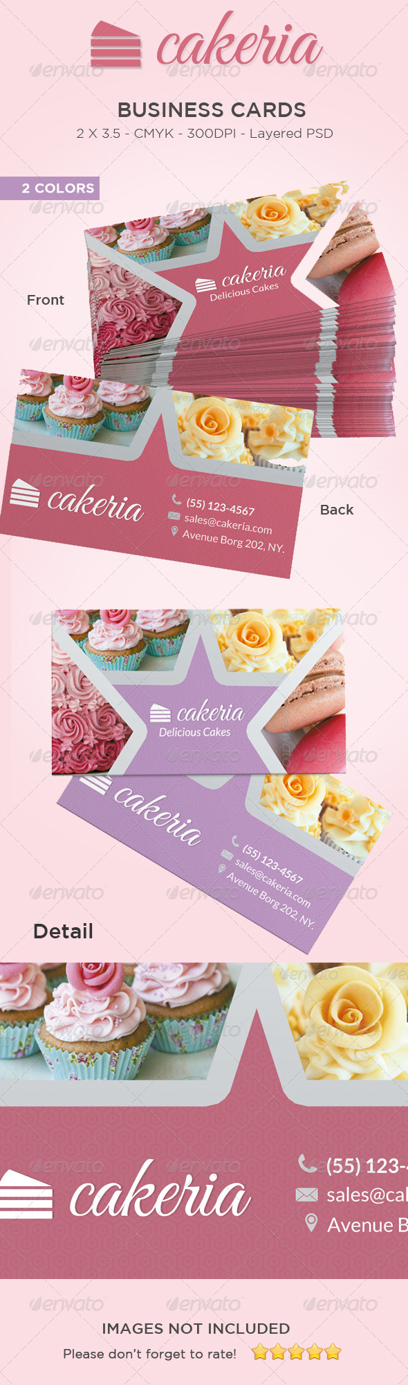 GraphicRiver Cake Cupcake Business Card 6074969