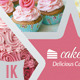 Cake / Cupcake Business Card - GraphicRiver Item for Sale
