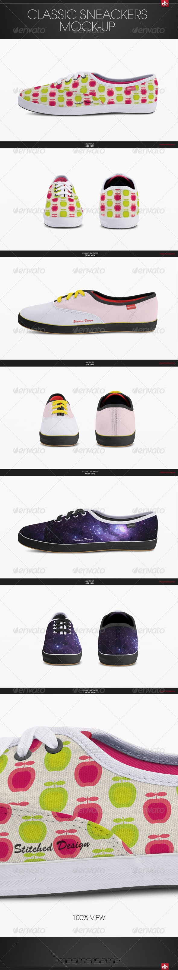 GraphicRiver Classic Sneakers Shoes Mock-up 6074997