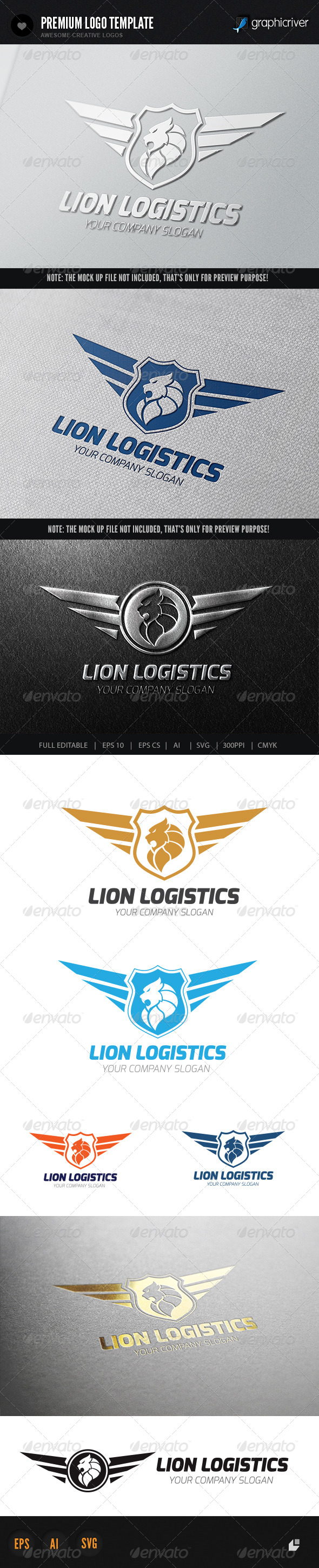 Lion Logistics Logo - Crests Logo Templates