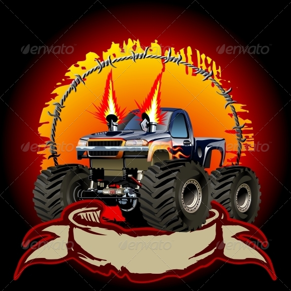 GraphicRiver Cartoon Monster Truck 6075172