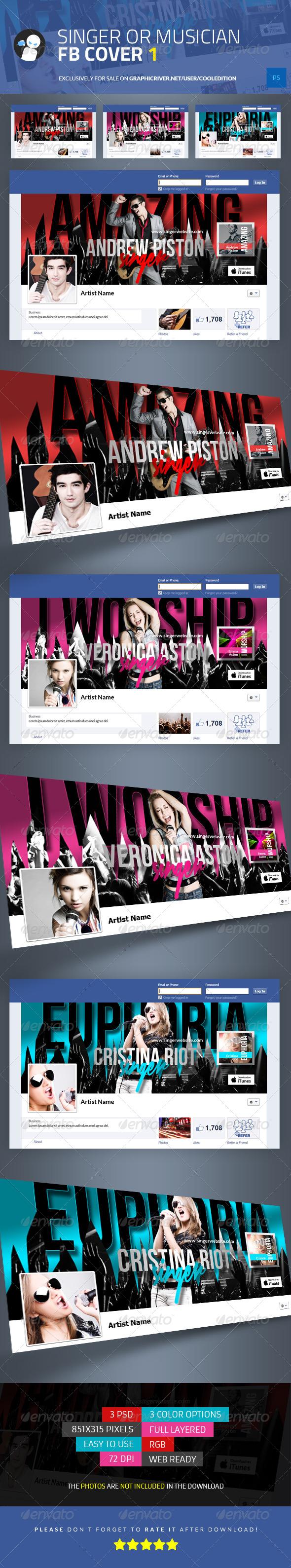 Singer or Musician Facebook Cover 1
