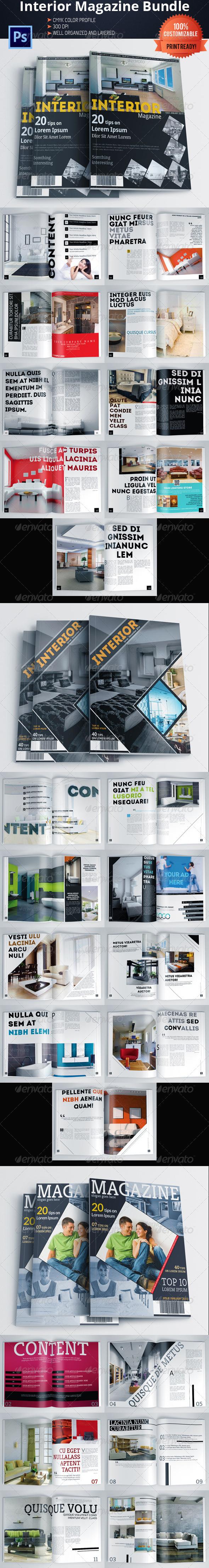 GraphicRiver Architecture and Interior Design Magazine Bundle 6075348