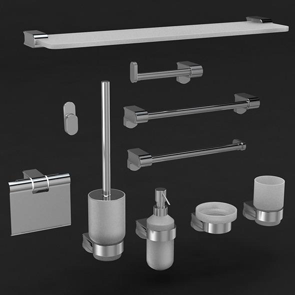 Guitar bathroom accessories - 3DOcean Item for Sale